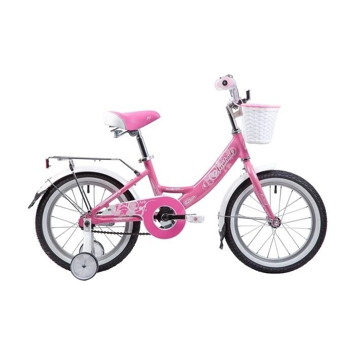 Двухколесный велосипед NOVATRACK 16 GIRLISH LINE розовый
