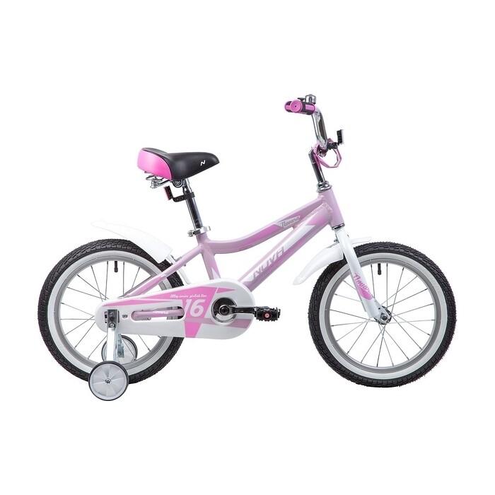 Двухколесный велосипед NOVATRACK 16 NOVARA алюм. розовый