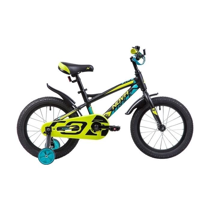 Велосипед 2-х колесный NOVATRACK 16 TORNADO алюм. черный 165ATORNADO.BK9