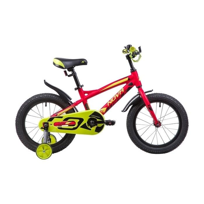 Велосипед 2-х колесный NOVATRACK 16 TORNADO алюм. красный 165ATORNADO.RD9