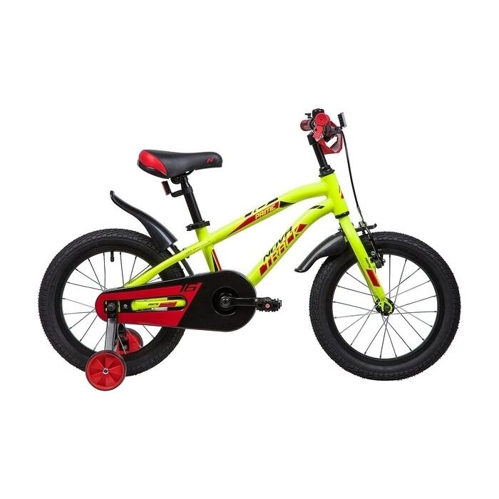 Двухколесный велосипед NOVATRACK 16 PRIME алюм. салатовый