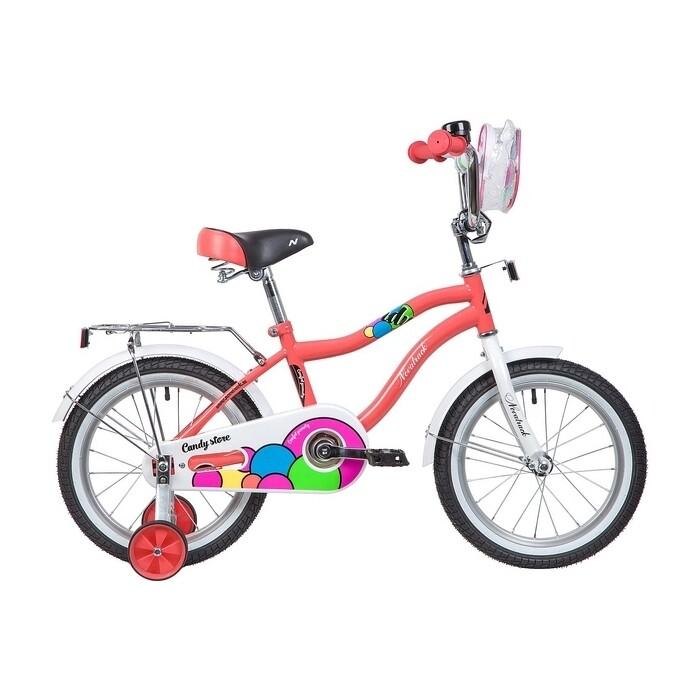 Двухколесный велосипед NOVATRACK 16 CANDY коралловый