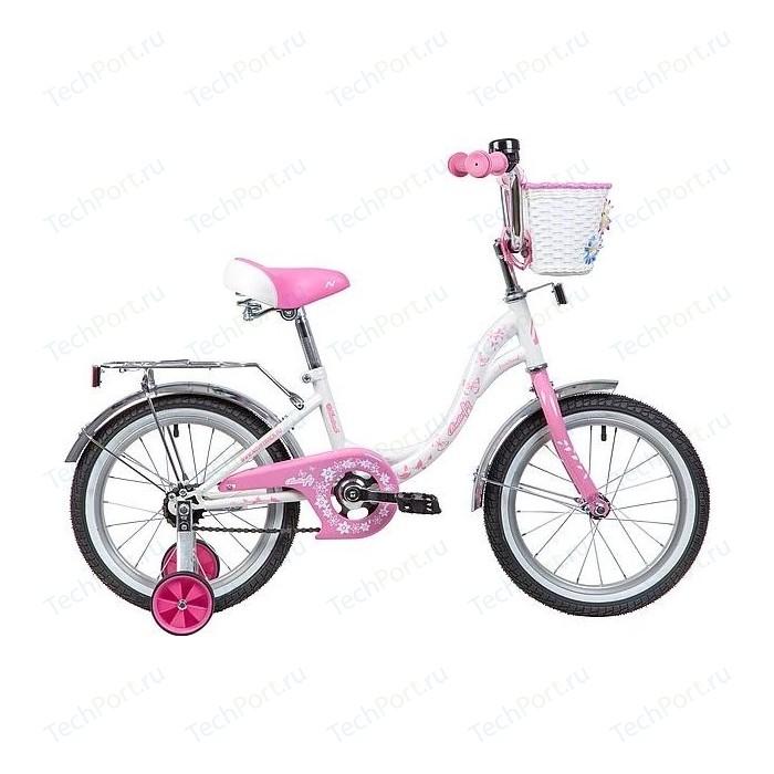 Велосипед NOVATRACK 16 BUTTERFLY белый-розовый 167BUTTERFLY.WPN9