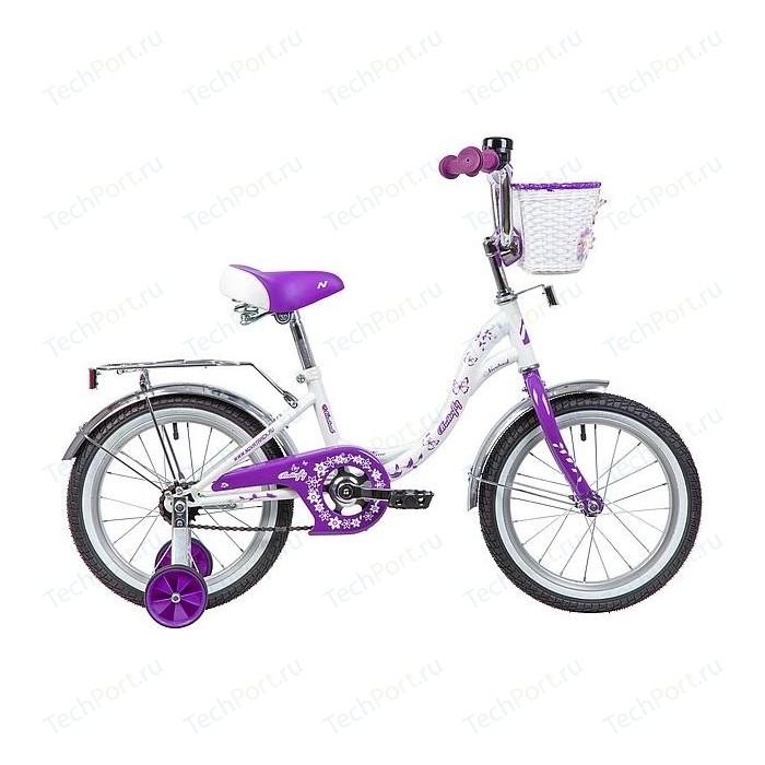 Велосипед 2-х колесный NOVATRACK 16 BUTTERFLY белый-фиолетовый 167BUTTERFLY.WVL9