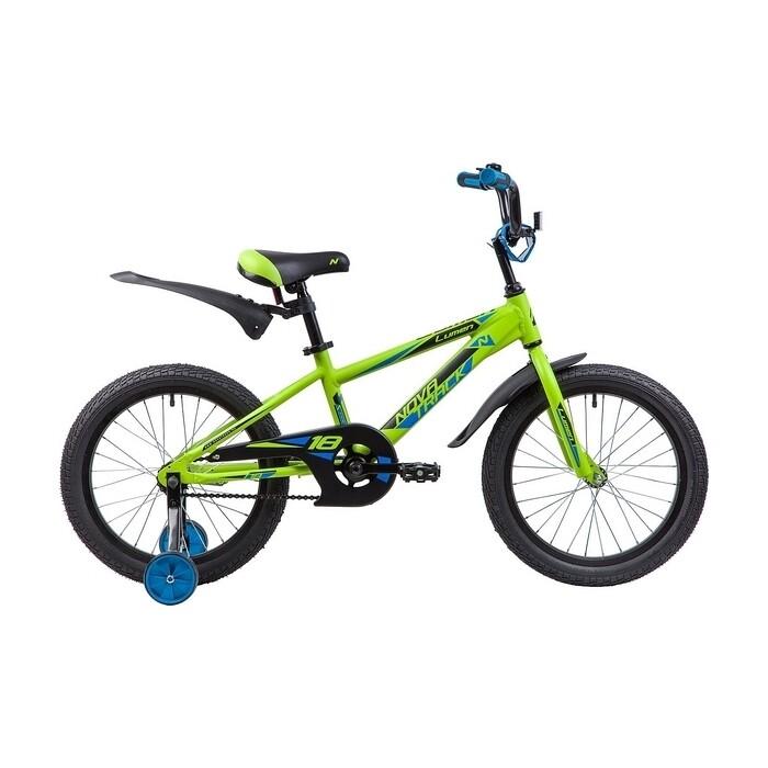 Велосипед 2-х колесный NOVATRACK 18 LUMEN алюм. зеленый 185ALUMEN.GN9