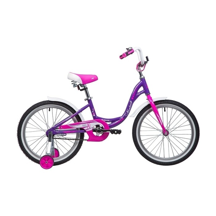 Велосипед 2-х колесный NOVATRACK 20 ANGEL фиолетовый 205AANGEL.VL9