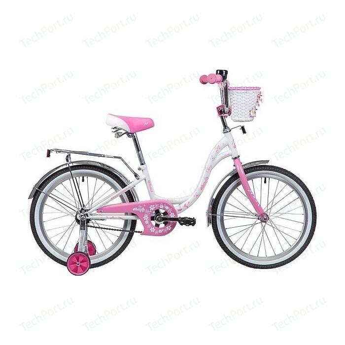 Велосипед 2-х колесный NOVATRACK 20 BUTTERFLY белый-розовый 207BUTTERFLY.WPN9