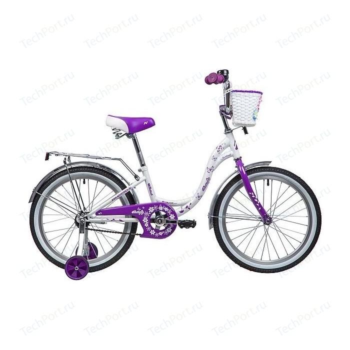 Велосипед 2-х колесный NOVATRACK 20 BUTTERFLY белый-фиолетовый 207BUTTERFLY.WVL9
