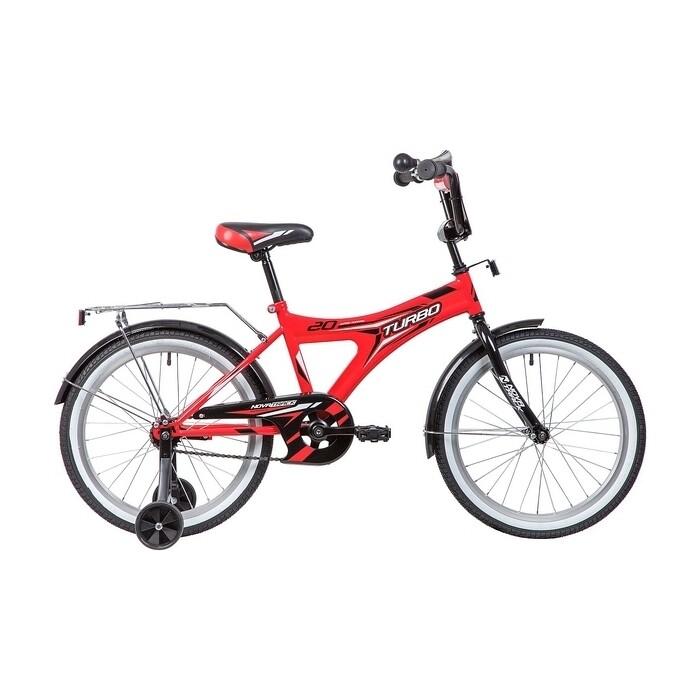 Двухколесный велосипед NOVATRACK 20 TURBO монокок красный