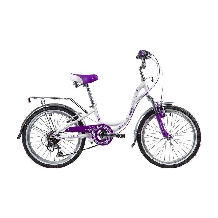 Двухколесный велосипед NOVATRACK 20 BUTTERFLY белый-фиолет