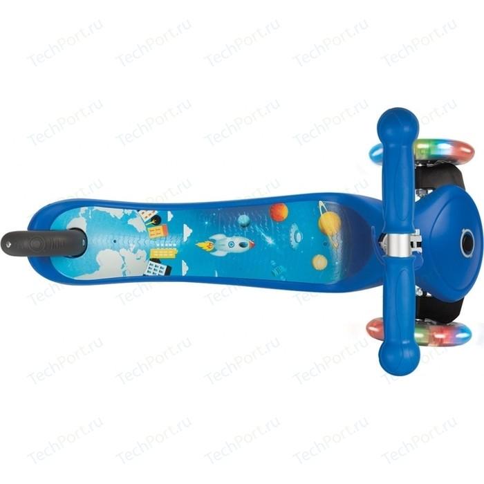Самокат 3-х колесный Globber PRIMO FANTASY LIGHTS синий (во3438-3)