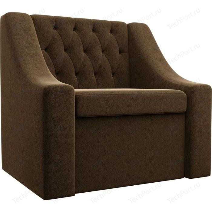 Кресло АртМебель Мерлин микровельвет коричневый