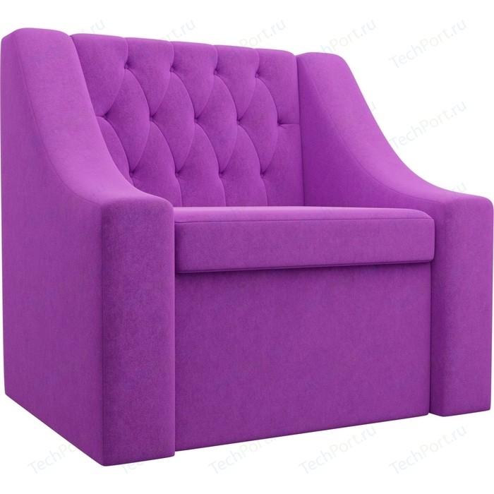 Кресло АртМебель Мерлин микровельвет фиолетовый