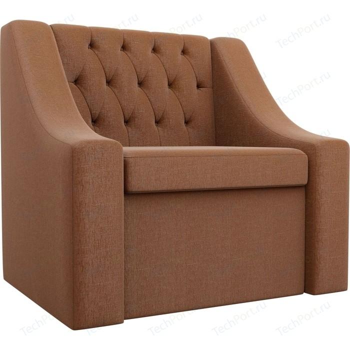 Кресло АртМебель Мерлин рогожка коричневый