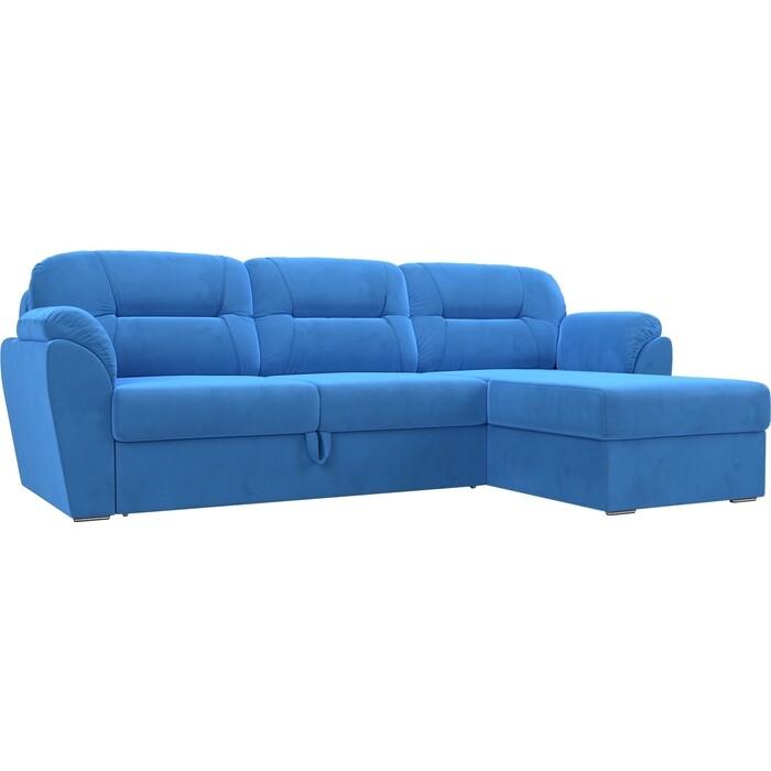 Фото - Угловой диван Лига Диванов Бостон велюр MR голубой правый угол угловой диван лига диванов форсайт велюр mr голубой правый угол