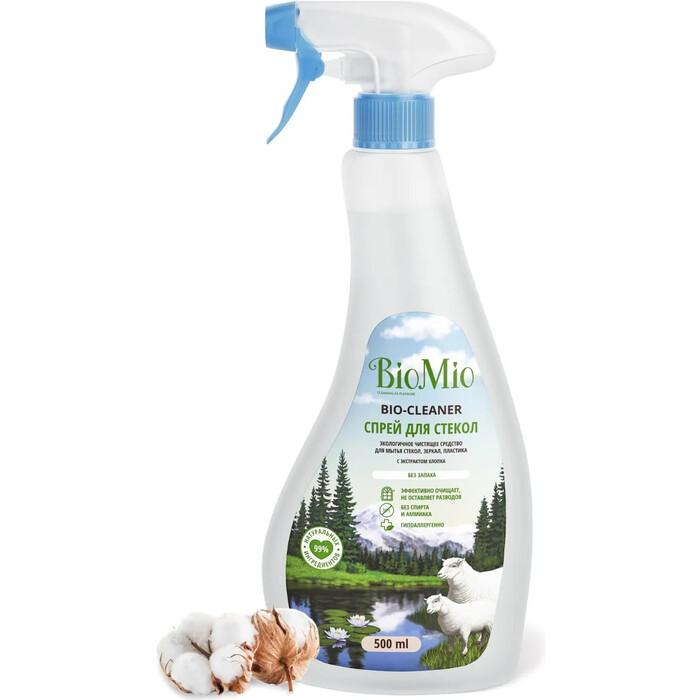 Чистящее средство BioMio для стекол, зеркал, пластика, экологичное 500 мл