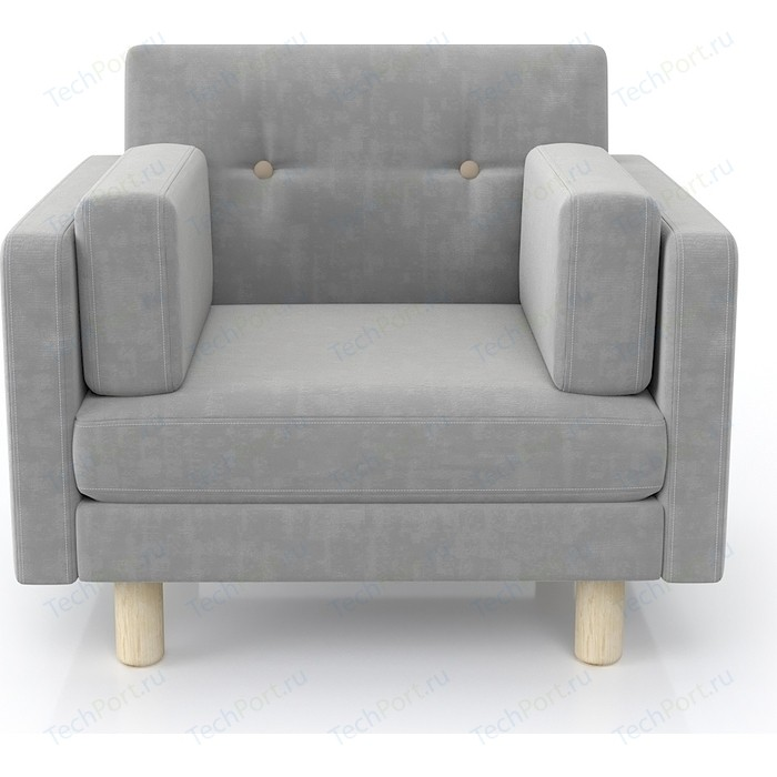 Кресло Anderson Ингвар серый велюр