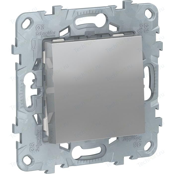 Переключатель одноклавишный Schneider Electric UNICA NEW (сх.6) 10AX 250В алюминий NU520330