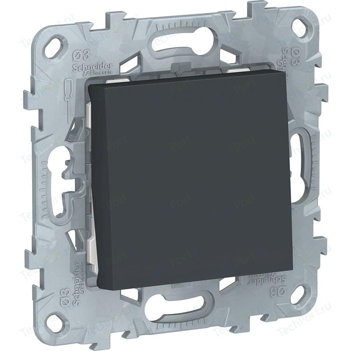 Переключатель одноклавишный Schneider Electric UNICA NEW (сх.6) 10AX 250В антрацит NU520354