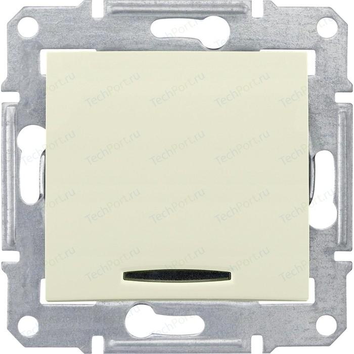 Выключатель одноклавишный Schneider Electric механизм СП Sedna 10А IP20 с син. индик. бежевый SDN1400147