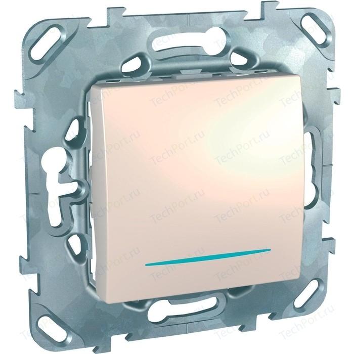 Выключатель одноклавишный Schneider Electric механизм СП UNICA 10А IP20 с индикацией бежевый MGU5.201.25NZD выключатель одноклавишный schneider electric механизм сп sedna 10а ip20 с син индик белый sdn1400121