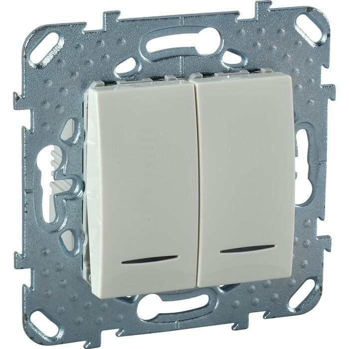 Выключатель двухклавишный Schneider Electric механизм СП UNICA 10А IP20 с индикацией бежевый MGU5.0101.25NZD