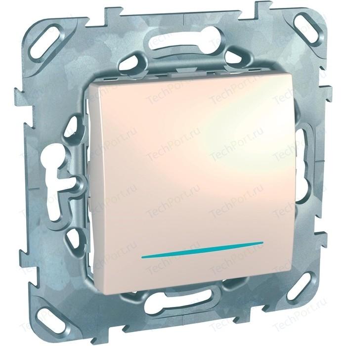 Переключатель одноклавишный Schneider Electric механизм СП UNICA проходн. с подсветкой бежевый MGU5.203.25NZD
