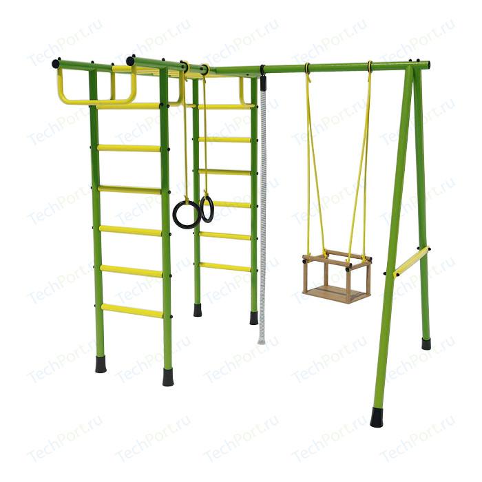 Детский спортивный комплекс Лидер Д2-02 зелено/желтый