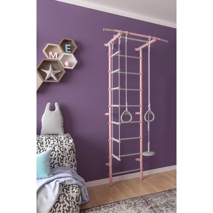 Шведская стенка Формула здоровья Pastel 1 розовый/серый