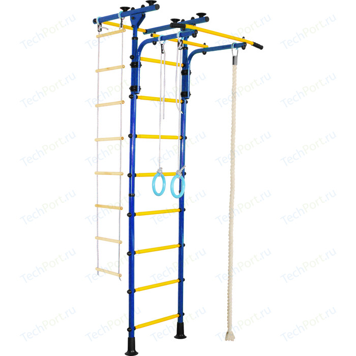 Детский спортивный комплекс Юный Атлет Пол - потолок - Т синий