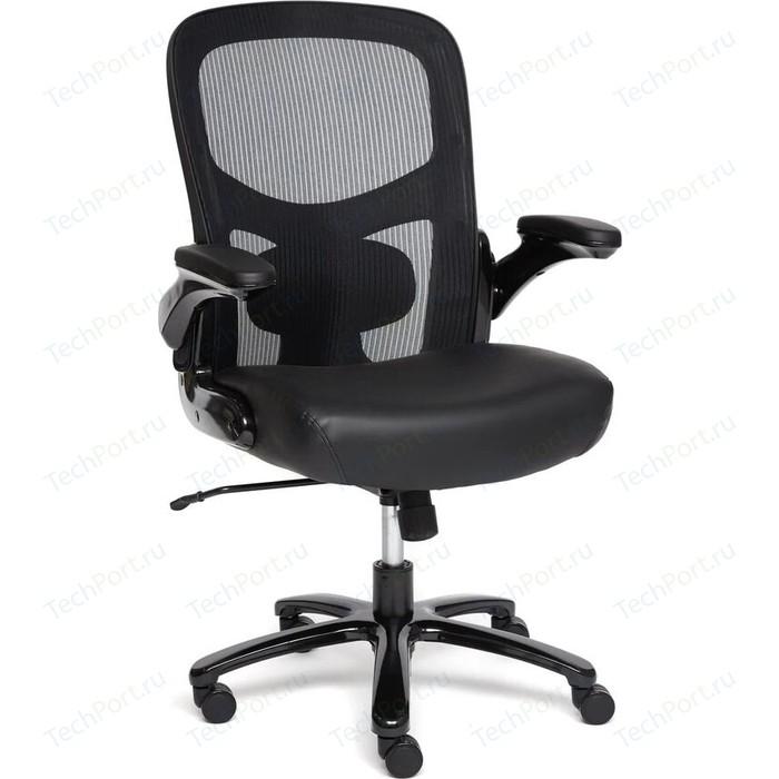 Кресло TetChair BIG-1 сетка/рециклированная кожа, черный