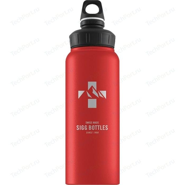 Фото - Бутылка для воды 1 л Sigg WMB (8744.90) красная бутылка для воды sigg sigg leaf 1л
