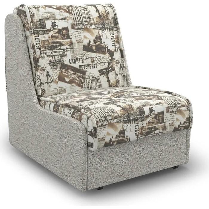 Кресло-кровать Mebel Ars Аккорд № 2 газета коричневая ППУ
