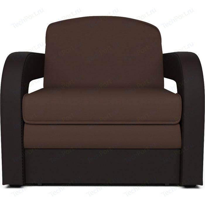 Кресло-кровать Mebel Ars Кармен 2 рогожка шоколад ППУ