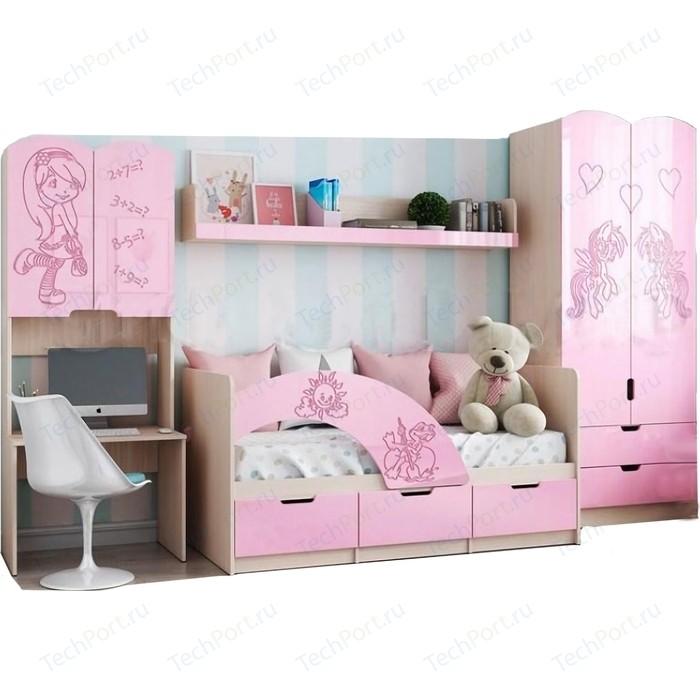 Модульная детская Миф Юниор-3 розовый металлик