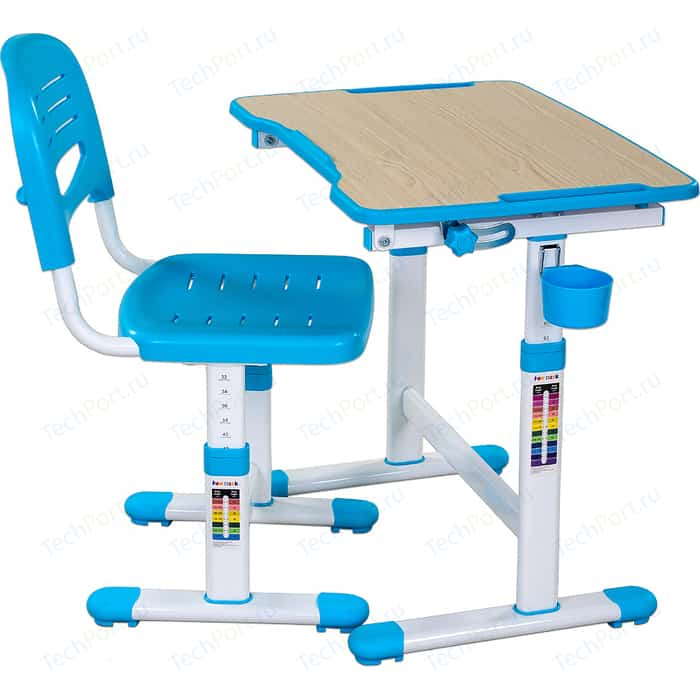 Комплект парта + стул трансформеры FunDesk Piccolino II blue