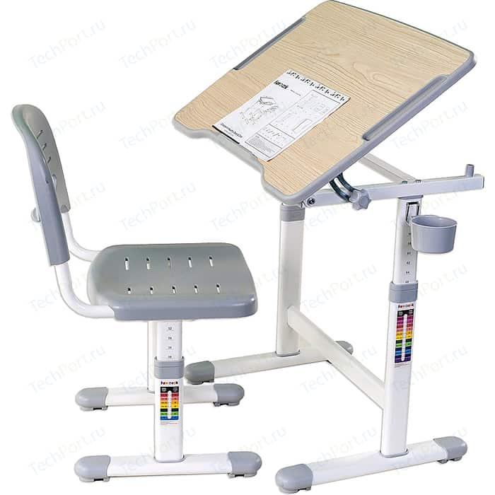 Комплект парта + стул трансформеры FunDesk Piccolino II grey