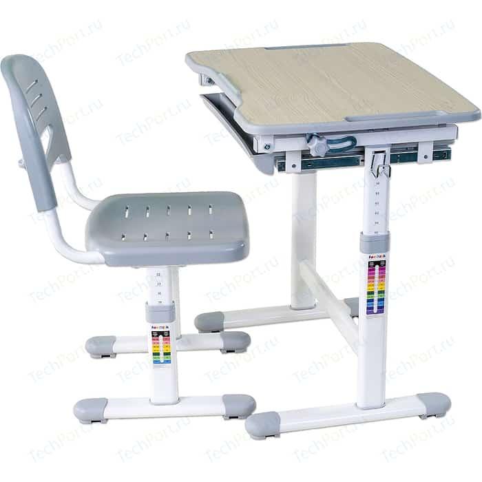 Комплект парта + стул трансформеры FunDesk Piccolino grey парта fundesk piccolino ii grey со стулом