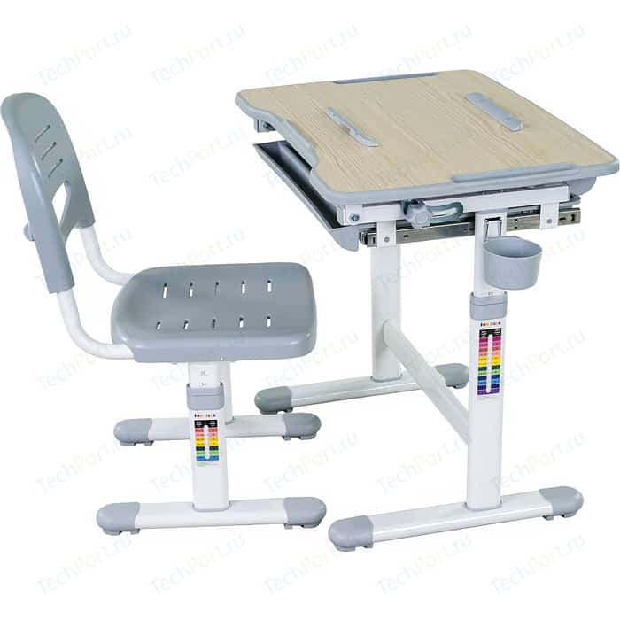 Комплект парта + стул трансформеры FunDesk Bambino grey