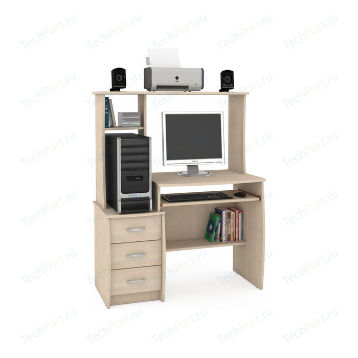 Стол компьютерный Моби Комфорт 5 СКР дуб паллада