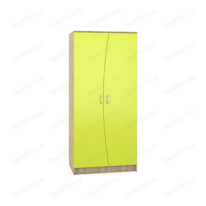 Шкаф Моби Ника 401 бук песочный/лайм зеленый