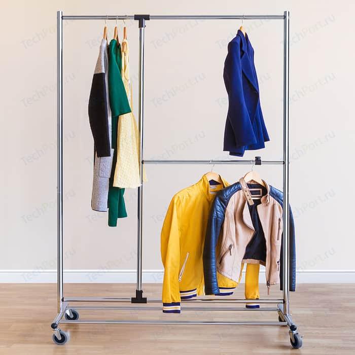 Стойка для одежды Tatkraft Marvel на колесах. с дополнительной вешалкой. ширина 116 см. высота 188 глубина 49 см