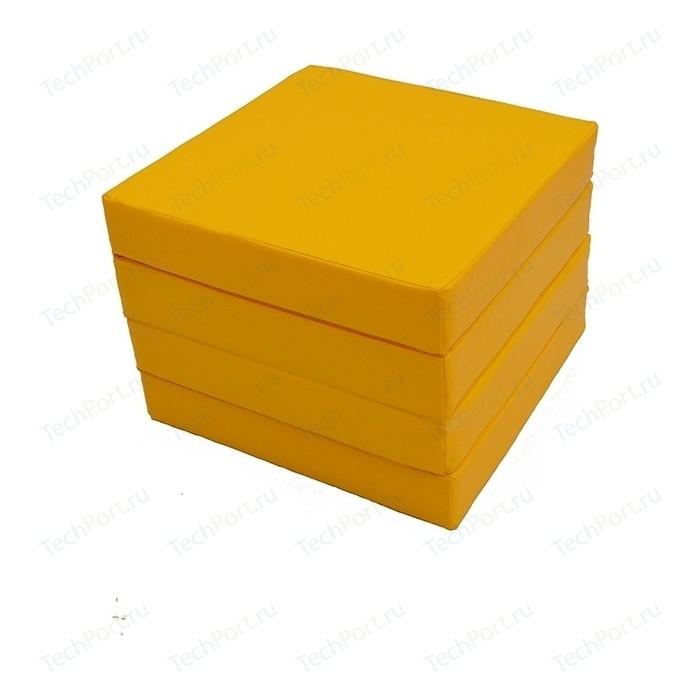 Мат КМС № 11 (100 x 100 10) складной жёлтый