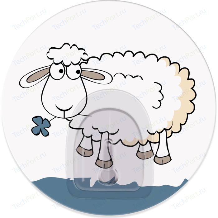 Крючок Tatkraft FUNNY SHEEP BELLA адгезивный, диаметр 8 см, до 3 кг