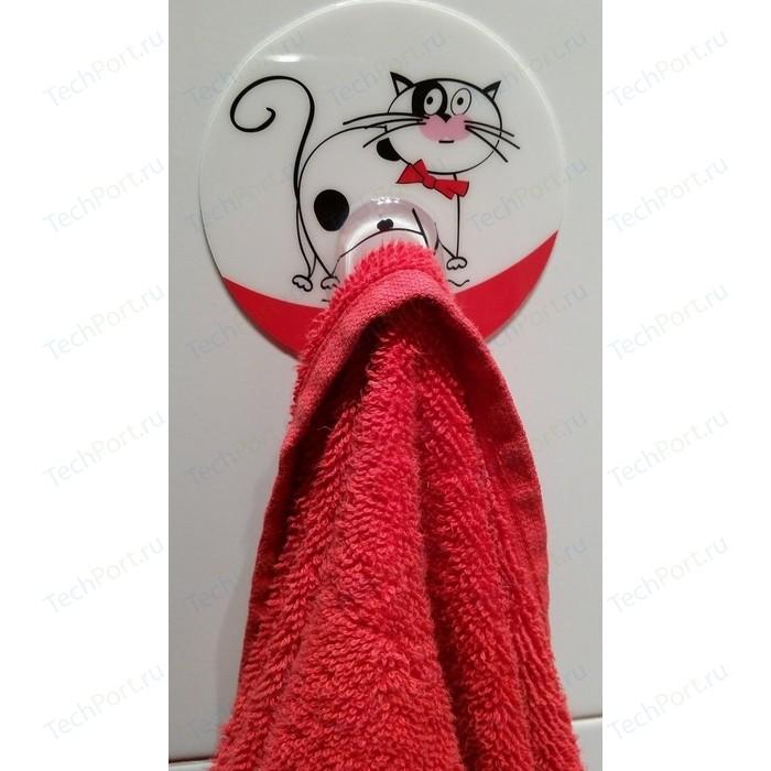 Крючок Tatkraft FUNNY CATS адгезивный, диаметр 8 см, до 3 кг