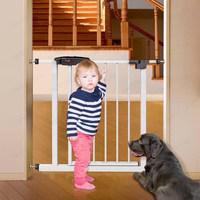 Ворота Tatkraft GATE для детской безопасности, 76-85x77x4,5 см, замок с индикатором цвета, 4 точки фиксации, окрашенная сталь, пластик