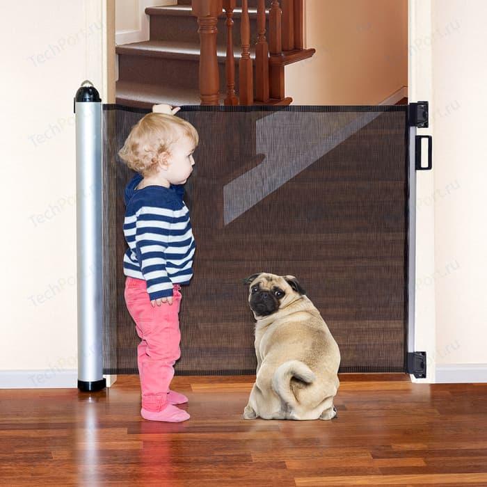Ворота Tatkraft MOM выдвижные, для детской безопасности, 140x88x8 см, вход и лестница, анодированный алюминий, ABS- пластик, полиэстер