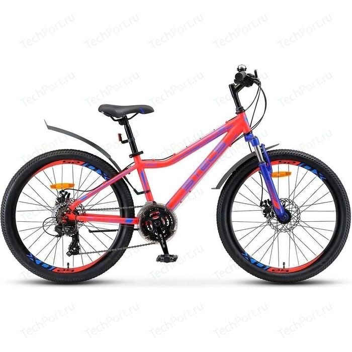 Велосипед Stels Navigator 410 MD 24 21 sp V010 (2018) 13 Неоновый красный велосипед stels navigator 670 md 2015
