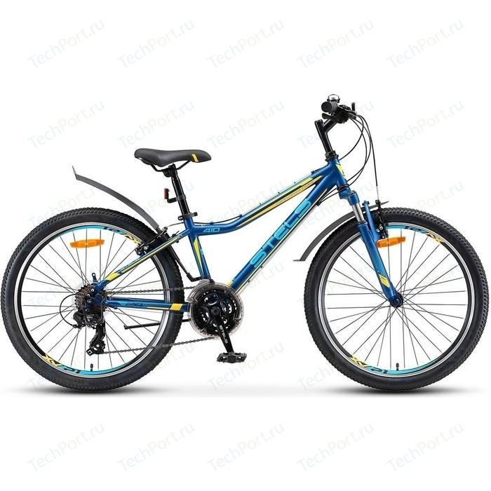 Велосипед Stels Navigator 410 V 24 21 sp V010 (2018) 13 Темно синий/желтый велосипед stels focus v 18 sp 2017