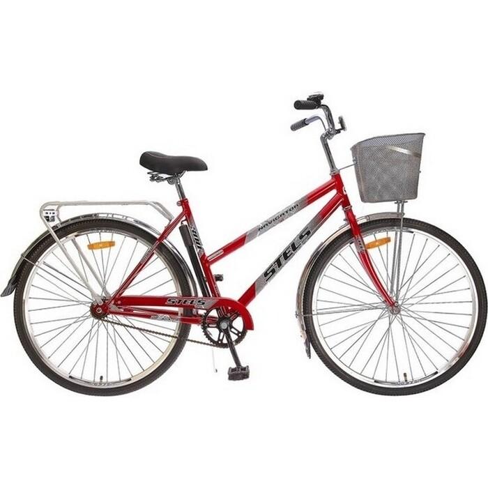 Велосипед Stels Navigator 300 Lady 28 Z010 (2018) 20 Красный (С КОРЗИНОЙ)